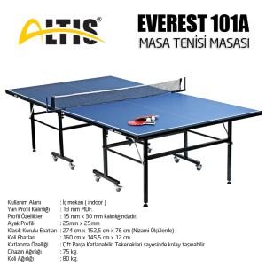 Altis - Everest 101a Masa Tenisi Masası