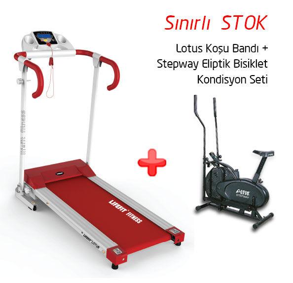 Altis Lotus Koşu Bandı- Stepway Eliptik Bisiklet Set