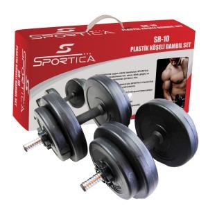 Sportica - Sportica Sr10 Plastik Dambıl Seti 10,5Kg