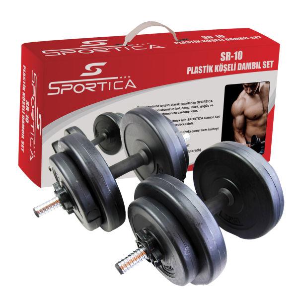 Sportica Sr10 Plastik Dambıl Seti 10,5Kg
